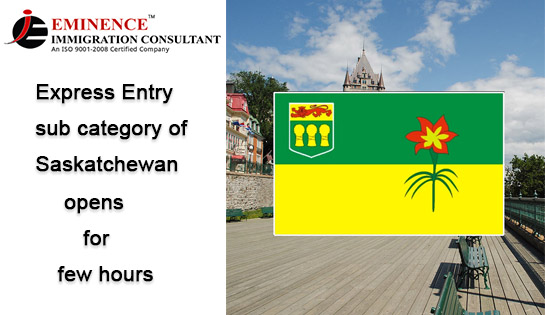 express entry sub category of saskatchewan opens for a few